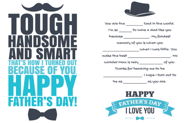 Complimentary Father's Day Card Designs from LD Products
