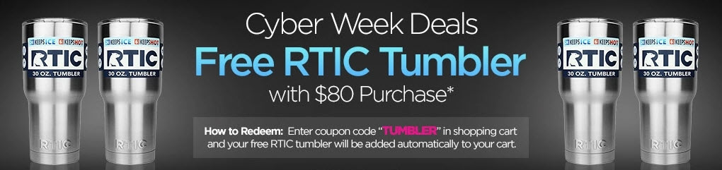 Cyber Week Deals – Get a Free RTIC Tumbler!