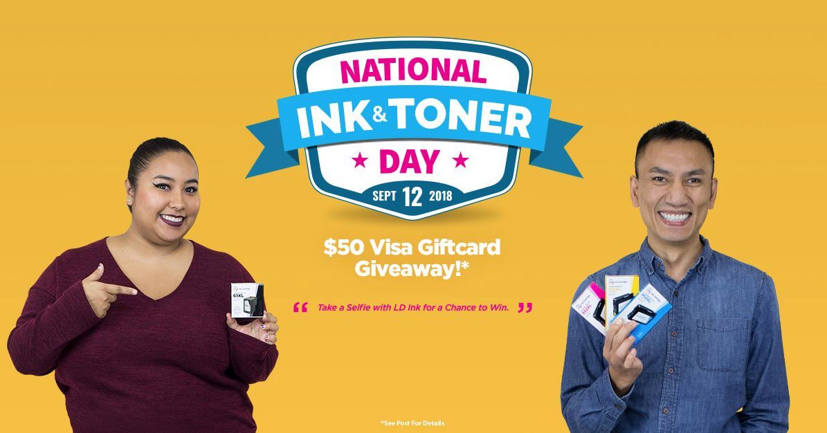 National Ink and Toner Day: $50 Visa Gift Card Giveaway!