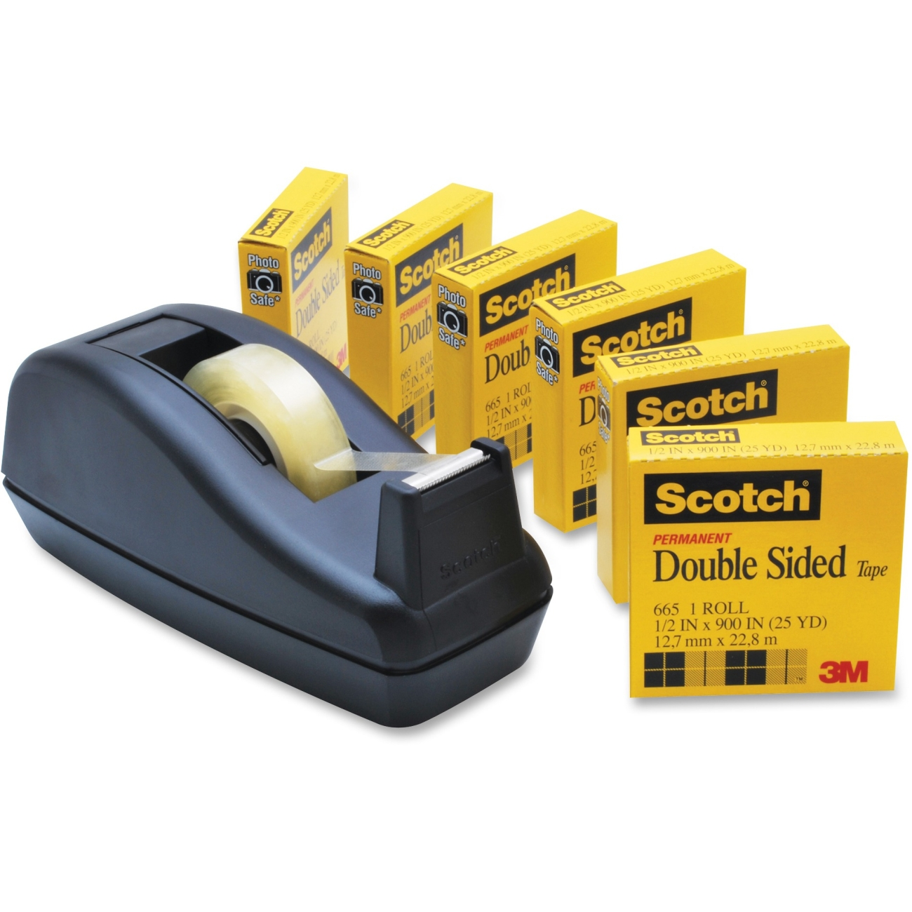scotch permanent double sided tape 6 per pack ld products. Black Bedroom Furniture Sets. Home Design Ideas